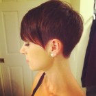 Super short pixie haircut