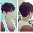 The back of a pixie haircut