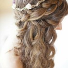 Wedding bridesmaid hair