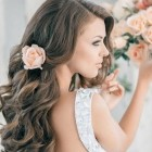 Wedding hair long curls