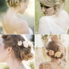 Wedding hair styles with flowers