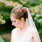 Wedding hair updos with veil