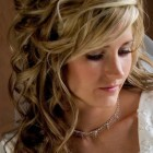Bridesmaid curly hairstyles