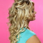 Curly half up hairstyles