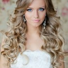 Hairstyle for curly long hair