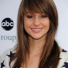 Hairstyle for long hair with bangs