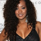 Long curly hairstyles for black women