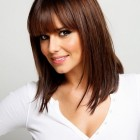Medium length hairstyles bangs