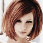 Medium short hairstyles for thick hair