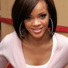 Rihanna medium hairstyles