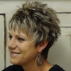 Short spikey hairstyles for older women