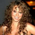Curly hair with bangs
