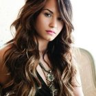 Wavy hairstyles for long hair