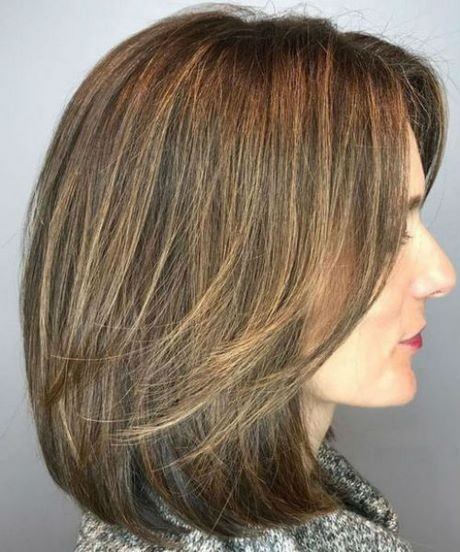 Shoulder length layered haircuts 2020