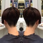 Back view short haircuts