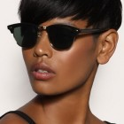 Black short haircut