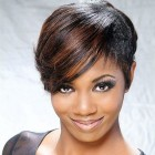 Black short hairstyle