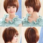 Short hairstyles for round faces 2017