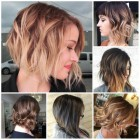 Hair colours for short hair 2018