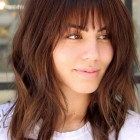 Layered haircuts with bangs 2018