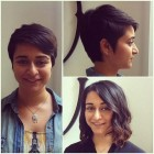 Before and after pixie cut