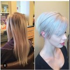 Long haircut to pixie