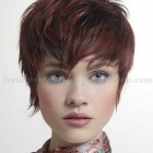 Pixie cut hairdos