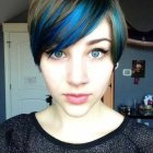 Pixie haircut and color