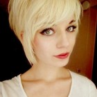Pixie haircut bangs
