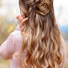 Down prom hairstyles 2019