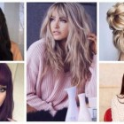 Hairstyles with long bangs 2019
