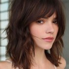 Medium length haircuts with bangs 2019