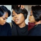 Short hairstyles black hair 2019