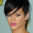 Rihanna short haircut