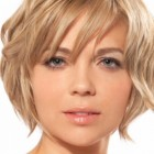 Short hairstyles round face