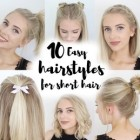 10 hairstyles for school short hair