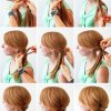 3 hairstyles fishtail ponytail & bun