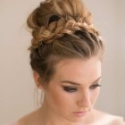 Casual updo long hair