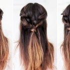 Easy everyday long hairstyles