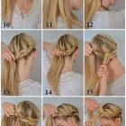 Easy hairstyle for medium hair at home