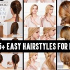 Easy long hair hairstyles