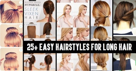 Easy quick hairstyles for long thick hair