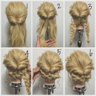 Easy updo long hair
