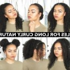 Everyday hairdos for curly hair