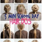 Hairstyles 5 minutes