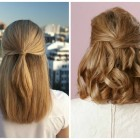 Hairstyles half up half down for medium hair