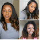 Hairstyles on straightened natural hair