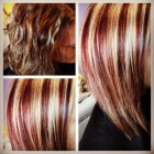 Hairstyles red blonde highlights