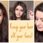 Hairstyles to keep hair out of face