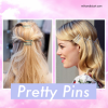 Hairstyles using bobby pins